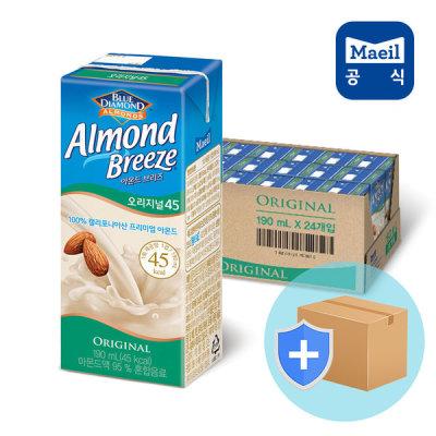 [매일유업] 아몬드브리즈 오리지널 190ml 24팩/두유/우유/음료