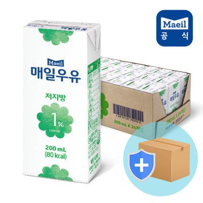 [매일유업] 매일 멸균우유 저지방 고칼슘 1% 200ml 24팩/두유