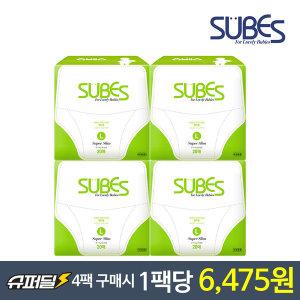 슈베스 기저귀 팬티형 슈퍼슬림 대형L 4팩 (리뉴얼)
