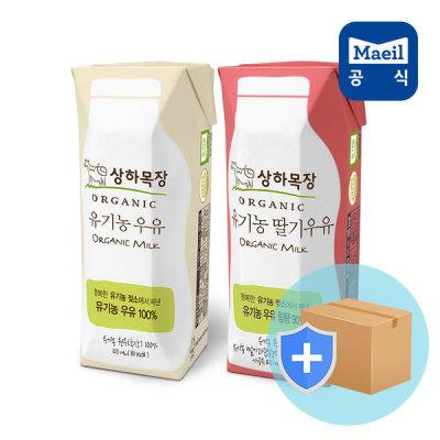 [상하목장] 유기농 흰우유125mlx24팩+딸기우유125mlx24팩 상하목장