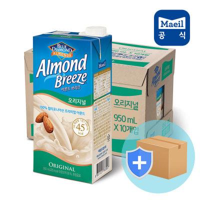 [매일유업] 아몬드브리즈 오리지널 950ml 10팩/두유/우유/음료