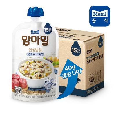 [매일우유] 맘마밀 안심밥상 소불고기가지 140g 10팩