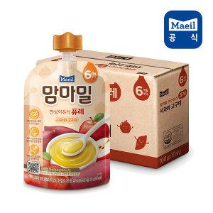 맘마밀 퓨레 사과와고구마 100g 10팩 (6개월)/이유식