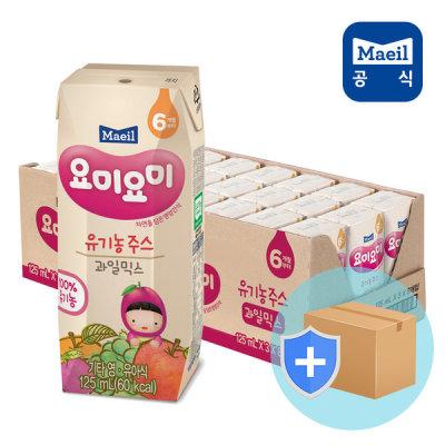 [매일유업] 요미요미 종합과일 유기농주스 125ml24입/아기쥬스