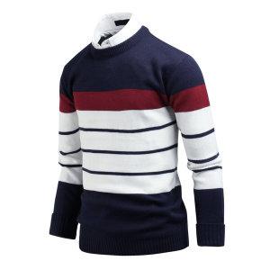 남자 스웨터 멀티단가라 스트라이프 남성 니트 ts2235