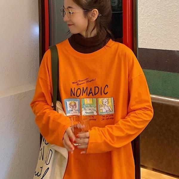 랄프랄프샵 가을 여성 신상 긴팔 루즈핏 롱 티셔츠 만