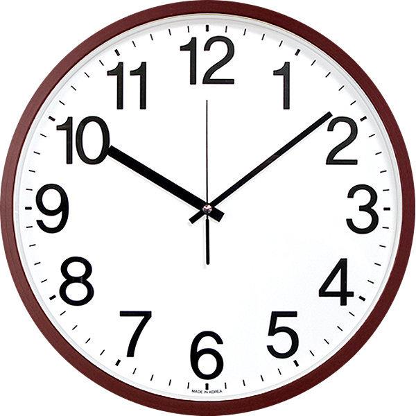 심플넘버 36cm 무소음벽시계 브라운 빅사이즈 대형시계