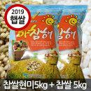 국산 찹쌀현미 5kg + 찹쌀 5kg 2019년산 햅쌀