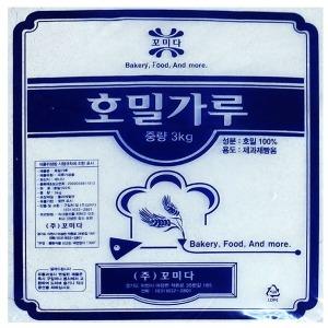 호밀가루 (꼬미다 3KG) 호밀100% 제과제빵 전용
