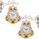 인테리어 양면시계 해바라기부엉이701KP/결혼선물소품