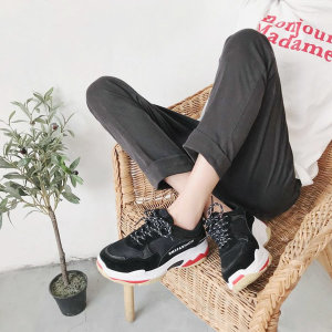 여성 컬러 배색 캐주얼 키높이 스니커즈 운동화 토미
