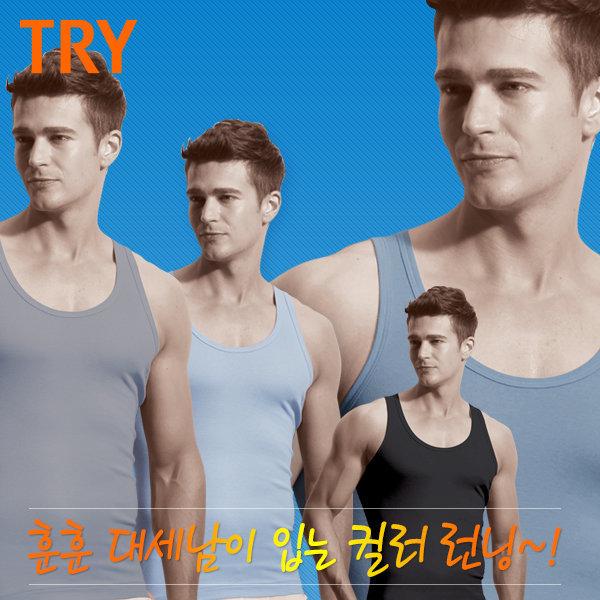 국민속옷트라이   남) 컬러 런닝/TMRSB50