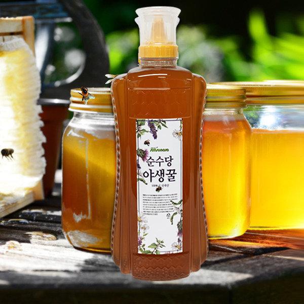 순수당 국산야생화꿀 대용량튜브 2kg/국산벌꿀/사양꿀