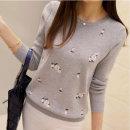 여성 가을겨울 BLOSSOM 블라썸 자수 니트 티셔츠 가을~