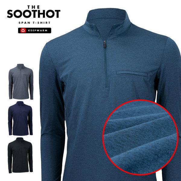 솟트핫 얇은 속 기모티셔츠 남자 남성 등산복 작업복
