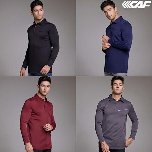 (현대Hmall) 르까프  (TV방송상품) 남성 에어로맥스 소프트 기모 카라 티셔츠 4종세트 1218GT410-413