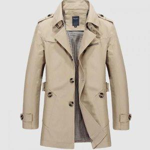 남자 트렌치 코트 캐주얼 자켓 하프코트 바바리 BD35