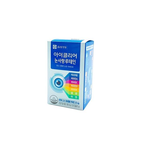 종근당건강 아이클리어 눈사랑루테인 30캡슐 1박스/HY