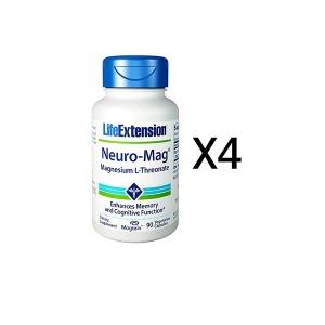 라이프익스텐션 뉴로맥 트레온산 마그네슘 90정 4병