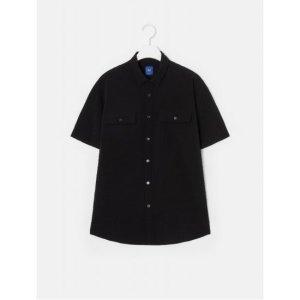 로가디스  A3  블랙 서커 솔리드 포켓 반팔 셔츠 (RX9365H525)
