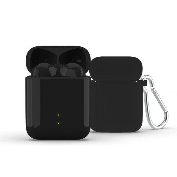 에어 포스 팟 무선 충전 2세대- 블랙 케이스+키링 증정