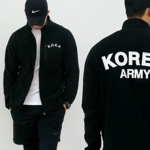 코리아 아미 고급 ROKA로카 후리스 - 군인후리스 검정