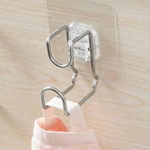 접착식 스텐 걸이세트 1+1 욕실 주방 다용도걸이