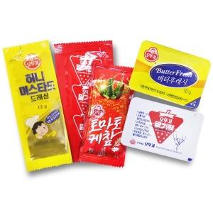 오뚜기 일회용소스/딸기잼 케찹 버터후레쉬 머스타드