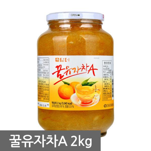 담터 꿀유자차A 2kg 무배
