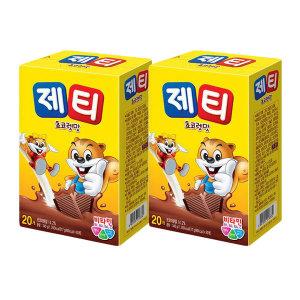 제티 초코 초코렛맛 40T(20TX2개)