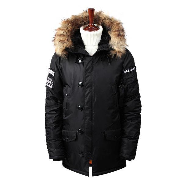 남자 겨울 매력적 진짜사나이 와펜 패딩점퍼 op0826
