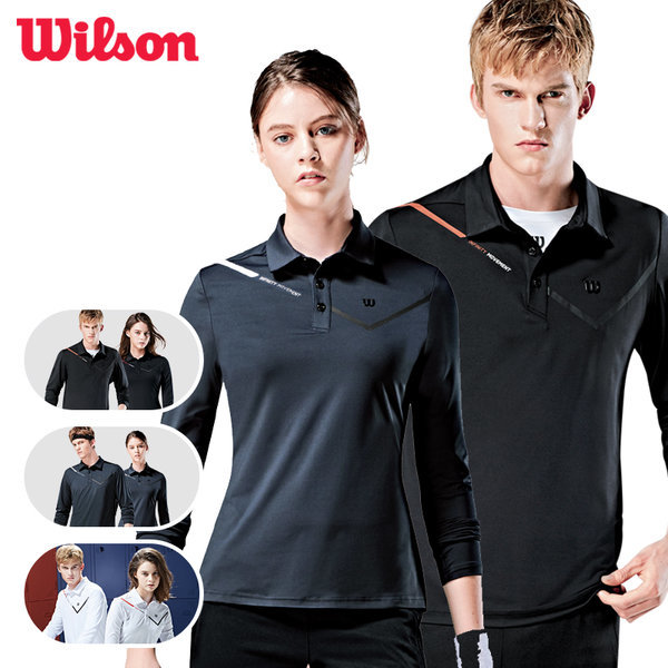 윌슨 긴팔 카라티셔츠 외출용  나들이용 티셔츠