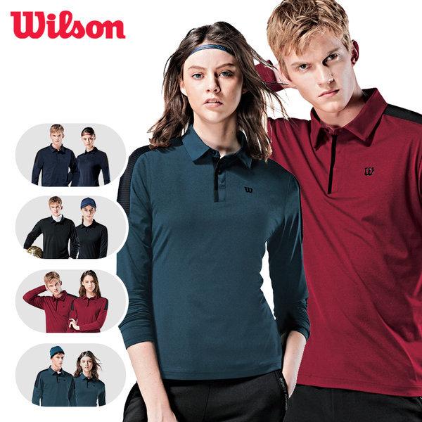 윌슨 봄가을 기모티셔츠 카라티셔츠 단체복