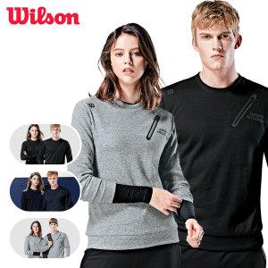 윌슨 기모 맨투맨 스포츠 야외활동 나들이 티셔츠