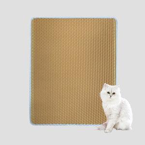 사막화방지매트 M 옐로우 /고양이모래매트 / 모래발판