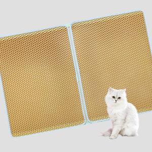 사막화방지매트 L 옐로우 /고양이모래매트 / 모래발판