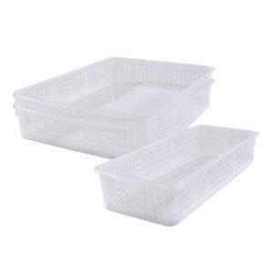 냉장고수납 트레이중더블 2개+트레이중 1개