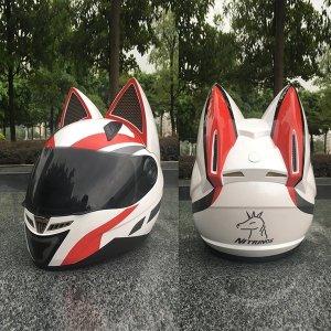 풀페이스 고양이헬멧 / 귀여운 오토바이헬멧