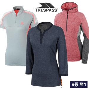 여름 흡한속건/냉감 여성 티셔츠/집업 자켓 균일가 9종 택1/골프웨어_245022/ 트래스패스