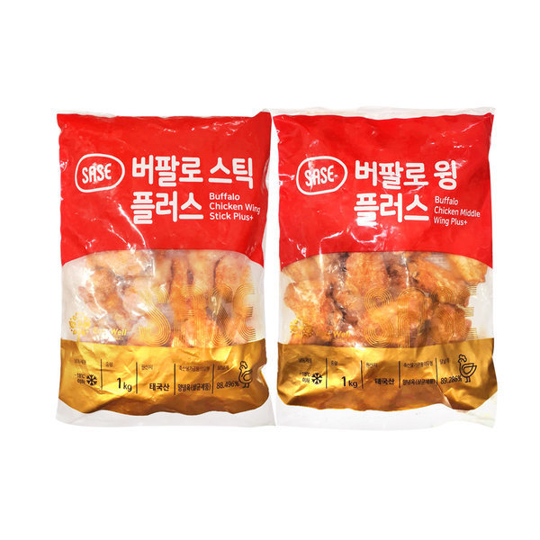 A급 사세 버팔로윙 1kg+버팔로봉 1kg 사세 치킨 모음