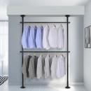 2단 스크류 행거 옷걸이 옷 헹거 드레스룸 시스템 블랙