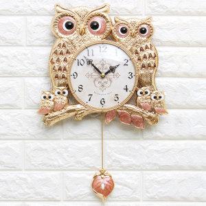 인테리어시계 잉꼬부엉이(P)/결혼선물 디자인장식소품