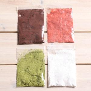 천연가루 4종세트 /코코아 딸기 녹차 가루 데코스노우