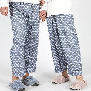 국내산 커플 파자마 스타냥이 잠옷바지 면100%