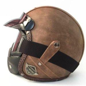 사계절 풀페이스 빈티지 할리 오토바이 모터 헬멧