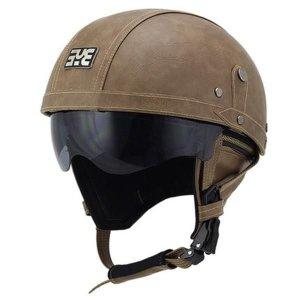 DOT 인증  할리 복고풍 프리미엄 오토바이 헬멧