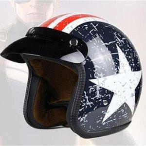 DOT인증 할리 하프 복고풍 오토바이 남여공용 헬멧