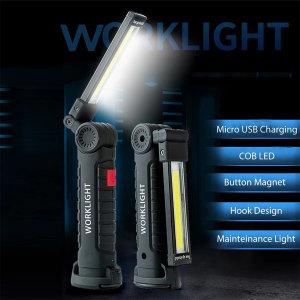 COB LED 손전등 작업등 랜턴 자석 걸이등 캠핑 WY6833