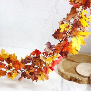 가을 장식 아이비 단풍 낙엽 가랜드