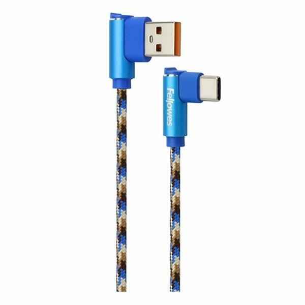 직각형 USB 데이터 충전케이블(C타입/1M/블루/10115)